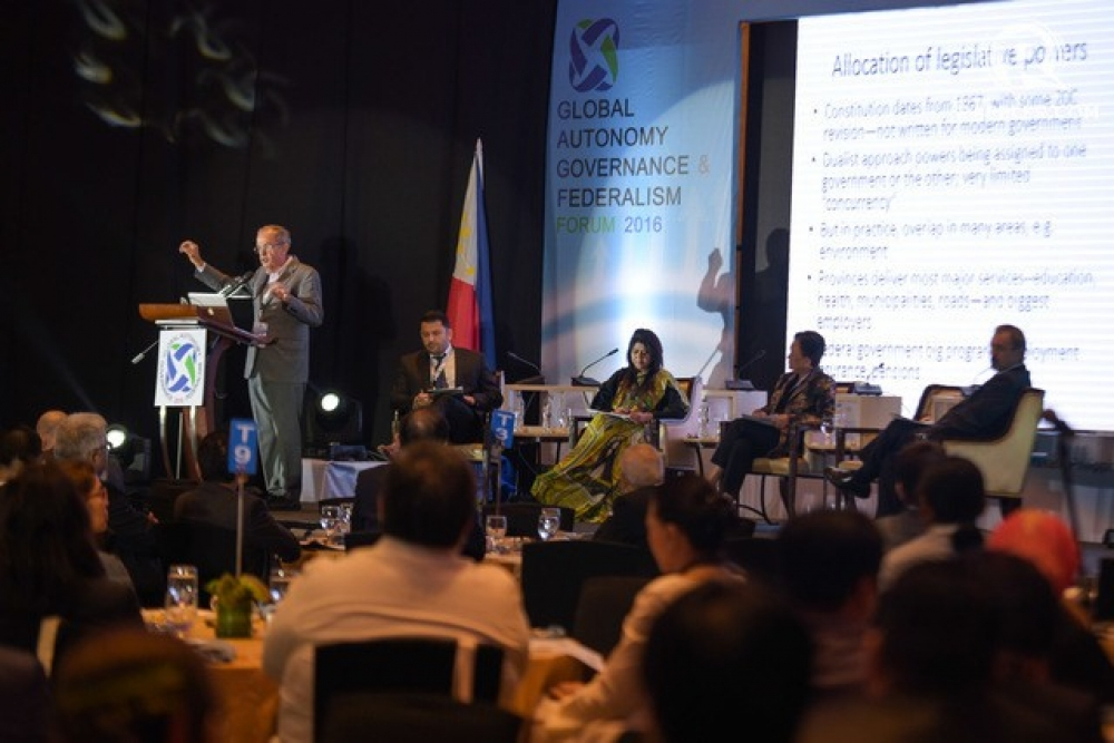 Day 1 of the Global Autonomy, Governance & Federalism forum at Dusit Thani Hotel in Makati City on October 19, 2016
