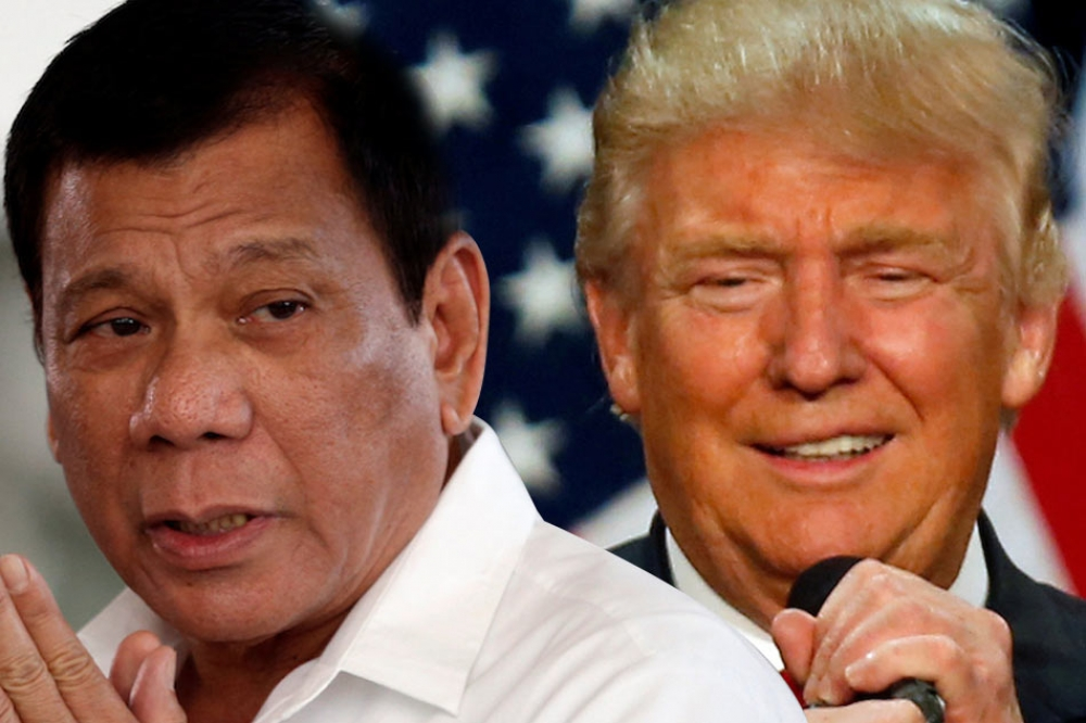 President Rodrigo Duterte and newly elected US President Donald Trump.
