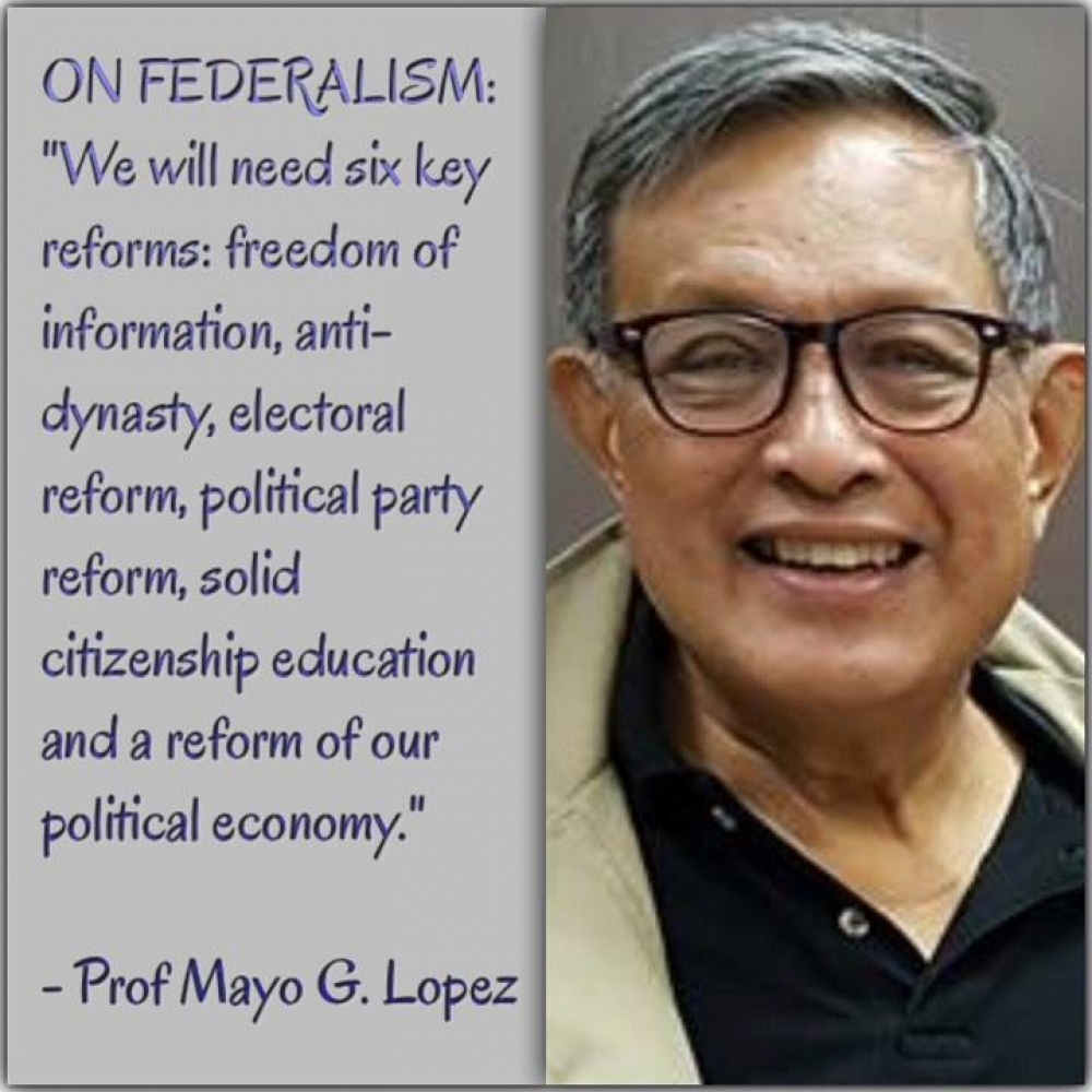 The Don is dead; federalism, atbp
