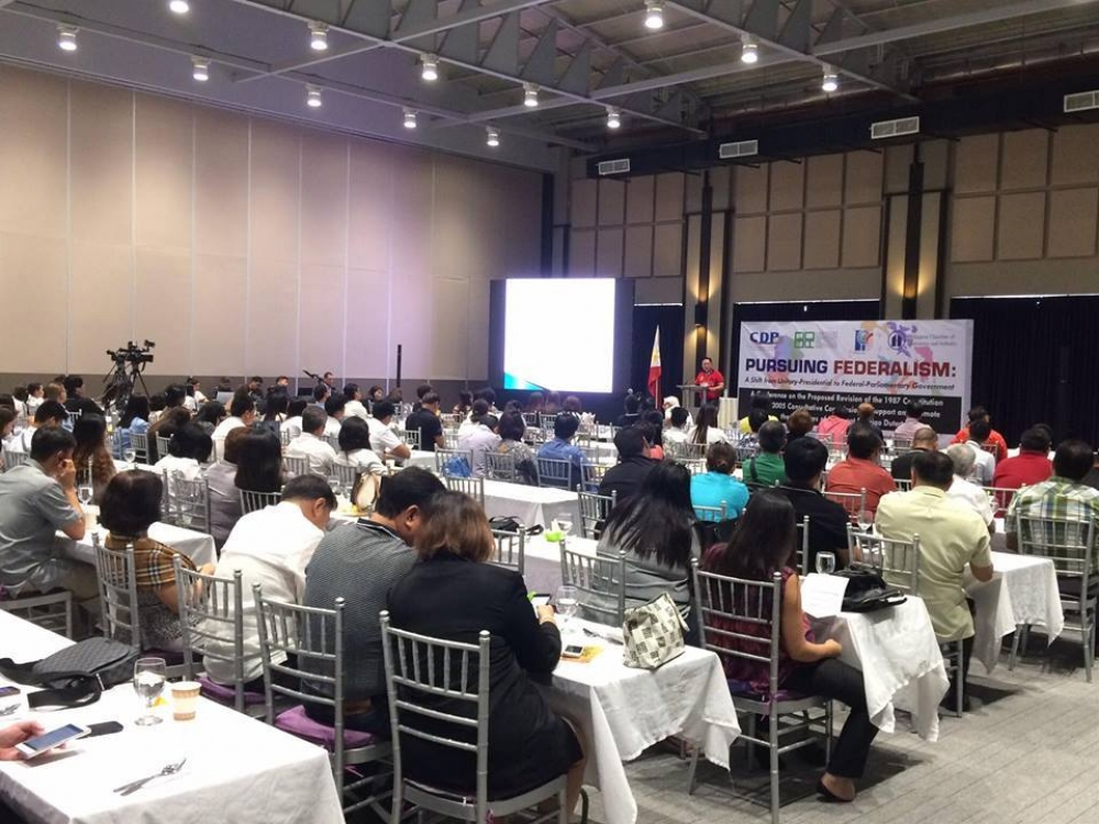 ‪#‎PursuingFederalism‬ conducted by the Centrist Democracy Political Institute (CDPI) and sponsored by Pampanga Chamber of Commerce and Industry, Inc and Philippine Chamber of Commerce and Industry