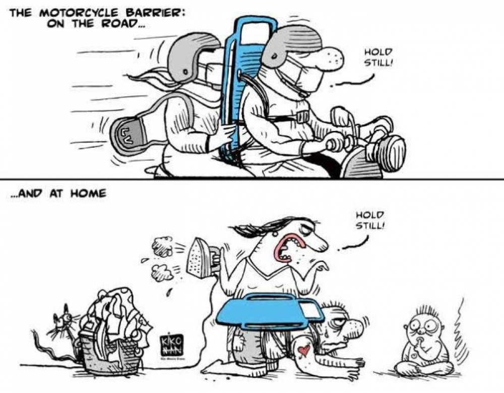 THE MOTORCYCLE BARRIER: ON THE ROAD…..AND AT HOME